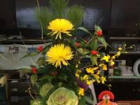 正月花と鏡餅