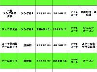 2016年上半期イベントスケジュール